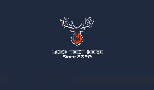 game - Deer Mascot Business card horizontal design