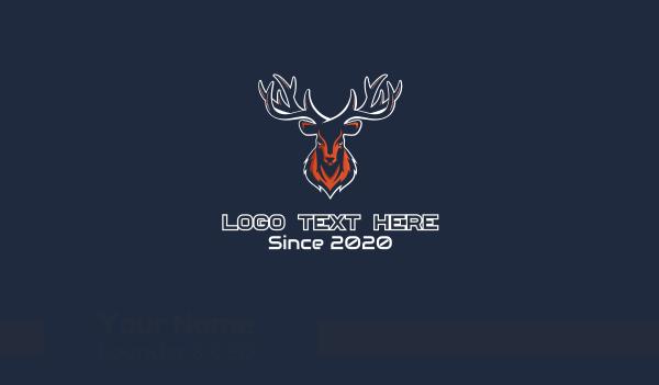 mascot - Deer Mascot Business card horizontal design