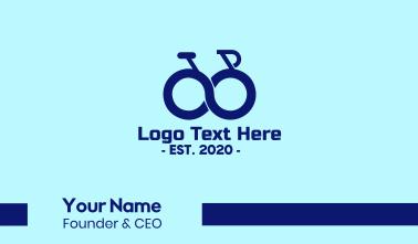 Blue Infinity Bike Business Card