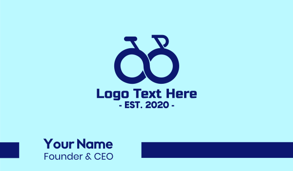 infinite - Blue Infinity Bike Business card horizontal design
