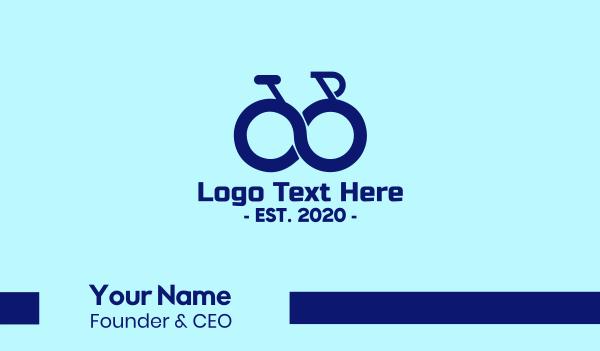 trail - Blue Infinity Bike Business card horizontal design
