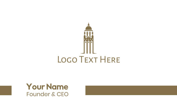 capitol - Golden Bell Tower Business card horizontal design