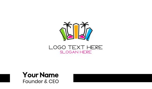 shore - Tropical City Business card horizontal design