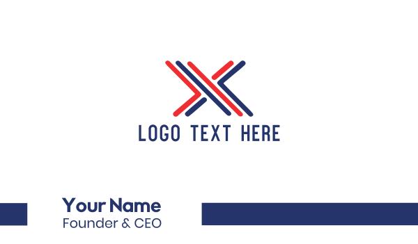 text - X Bars Business card horizontal design