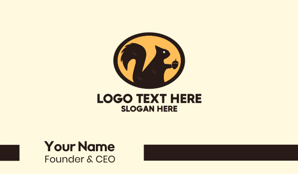 acorn - Acorn Squirrel Business card horizontal design