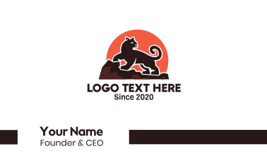 Black Panther Sunset Business Card