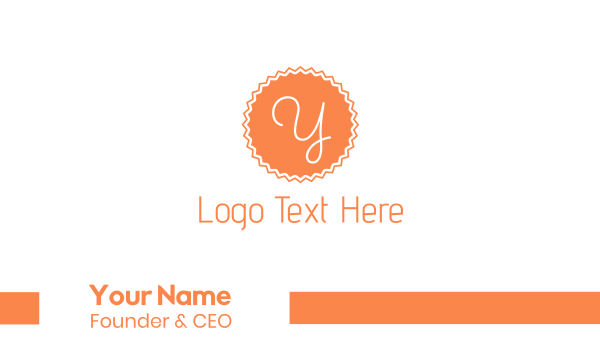 peach - Peach Y Stamp Business card horizontal design