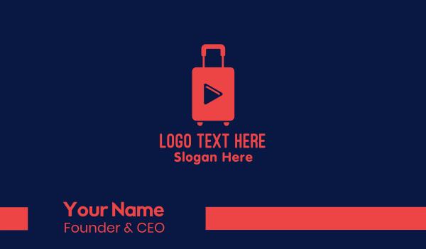 youtube vlog - YouTube Travel Vlog Business card horizontal design