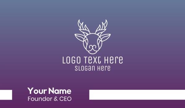 hunting equipment - Elegant Reindeer Outline Business card horizontal design