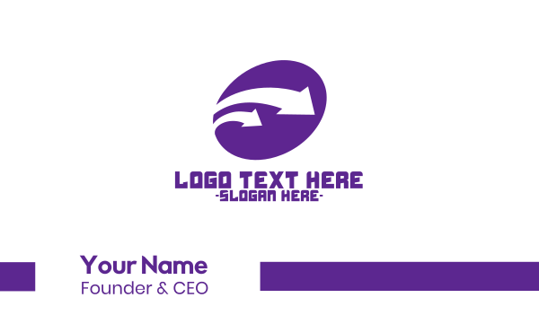 postal service - Purple Industrial Arrows Business card horizontal design