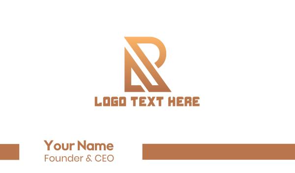 wealth - Professional Letter R Business card horizontal design