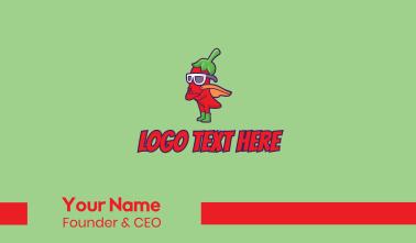 Superhero Chili Pepper  Business Card