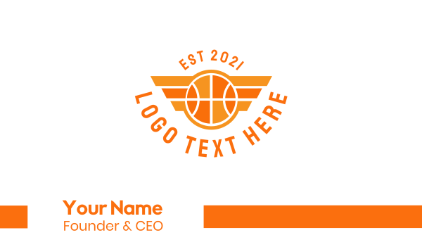 nba - Basketball Wing Business card horizontal design