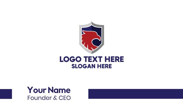leader - Eagle Shield Business card horizontal design