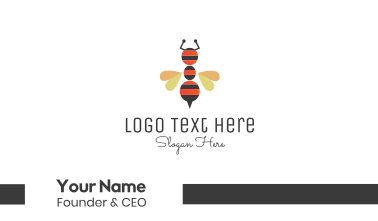Ant Bee Insect Business Card