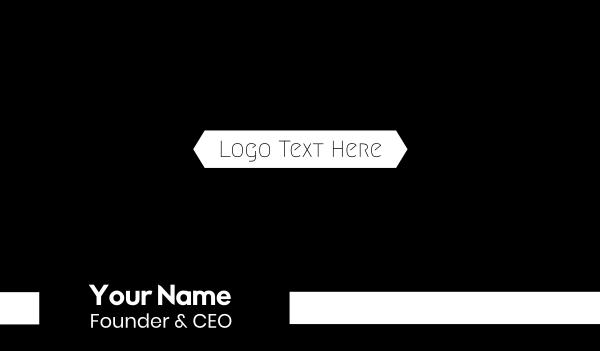 high end - B&W Minimalist Text Business card horizontal design