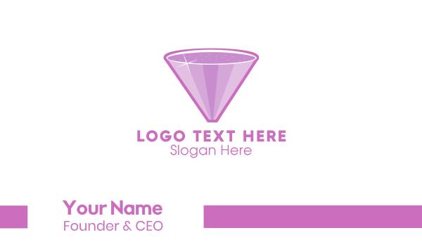shiny - Diamond Cocktail Business card horizontal design