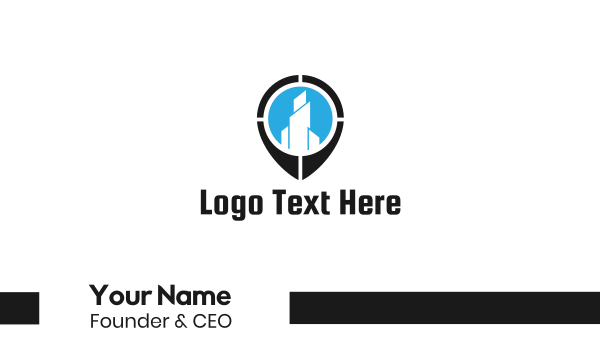 finder - Building Target Business card horizontal design