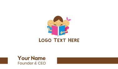 Children Book Reading Business Card