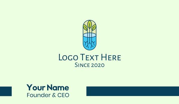 eco friendly - Herbal Medicinal Plant Business card horizontal design