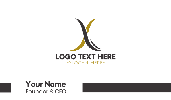 vaping - Minimalist Letter X Business card horizontal design
