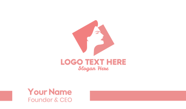 Strong Woman Silhouette Business Card