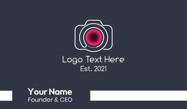 camera man - Minimalist Vlogging Camera  Business card horizontal design