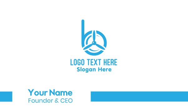 turbine - Propeller Letter B Business card horizontal design