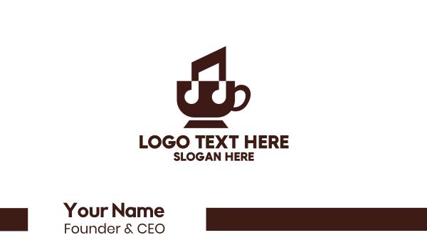 tone - Music Tea Coffee Cafe Business card horizontal design