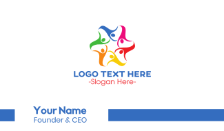 Colorful Human Star Business Card