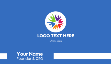 Colorful Star Team Business Card