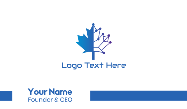 5g - Blue Tech Canada Business card horizontal design