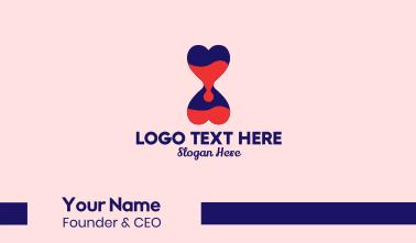 Heart Hourglass  Business Card