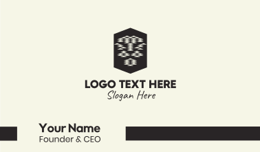 Tribal Lion Head Business Card