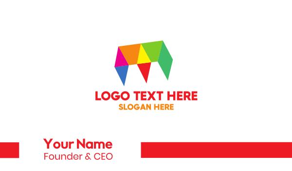 graphic design - Geometric & Chromatic Business card horizontal design