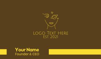 Golden Girl Astrology Face Business Card