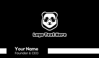 Smart Panda Mascot Business Card