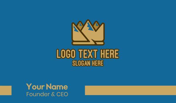 trail - Royal Mountain Crown Business card horizontal design