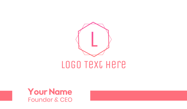 life coach - Pink Minimalist Business card horizontal design