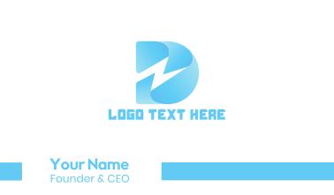 Thunder Letter D Business Card