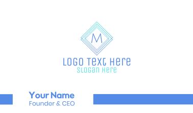 Modern Gradient Stroke Lettermark Business Card