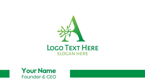 green branch - Green A Branch Business card horizontal design