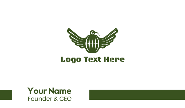 grenade - Flying Grenade Business card horizontal design
