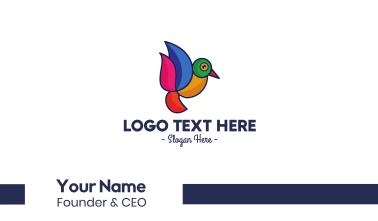 Minimalist Bird Outline  Business Card