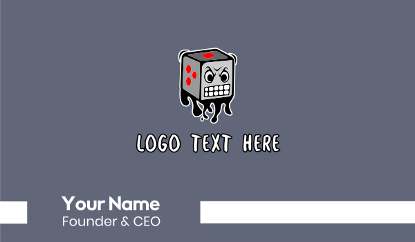 dice - Angry Dice Graffiti Business card horizontal design