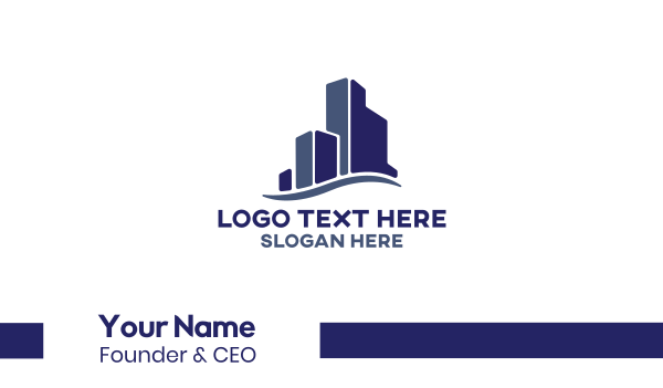 staffing-agency - Blue Real Estate Buildings Business card horizontal design