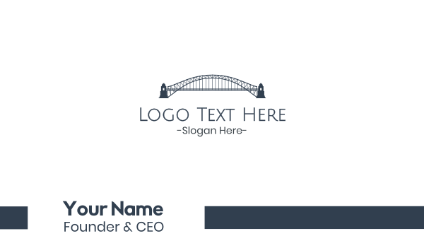 pier - Gray Harbour Bridge  Business card horizontal design
