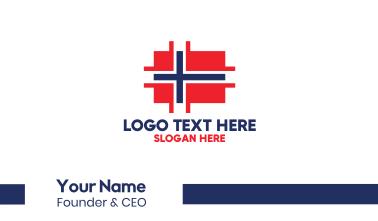 Modern Norway Tech Business Card