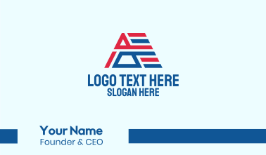 Political Letter A Business Card