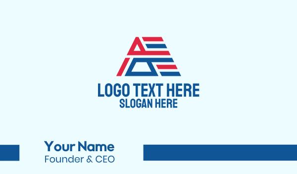 republican - Political Letter A Business card horizontal design